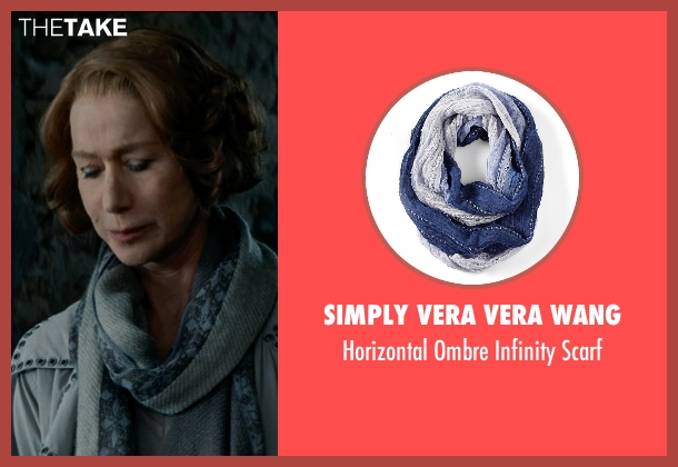 Simply Vera Vera Wang blue scarf from The Hundred-Foot Journey seen with Helen Mirren (Madame Mallory)