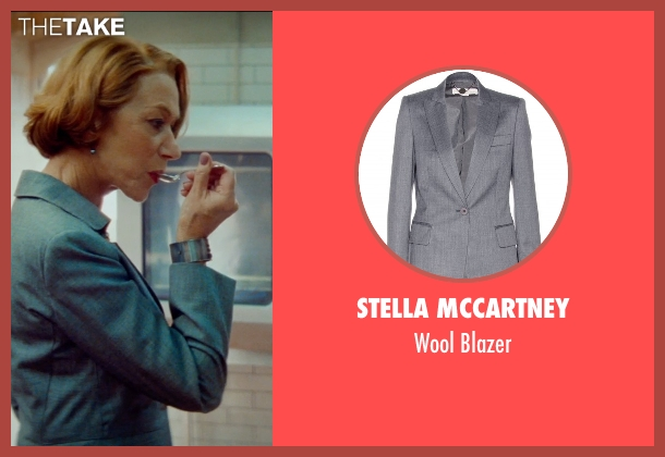Stella Mccartney gray blazer from The Hundred-Foot Journey seen with Helen Mirren (Madame Mallory)