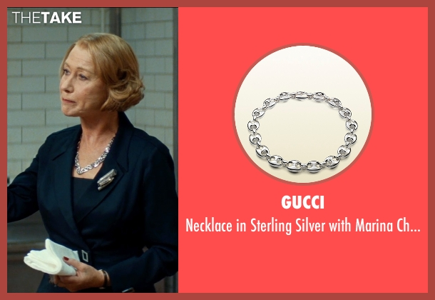 Gucci silver motif from The Hundred-Foot Journey seen with Helen Mirren (Madame Mallory)