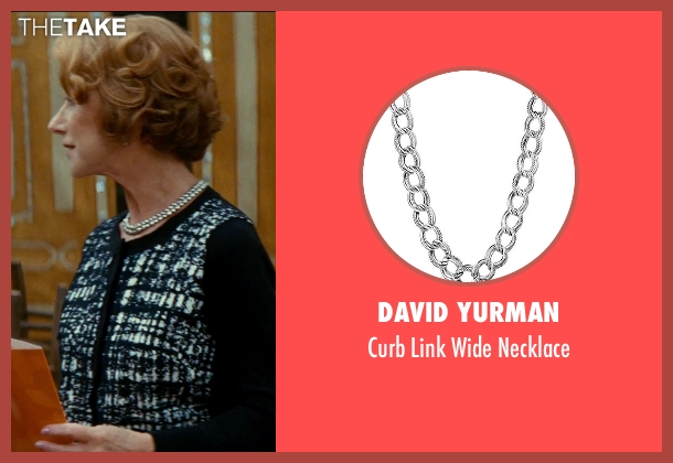 David Yurman silver necklace from The Hundred-Foot Journey seen with Helen Mirren (Madame Mallory)