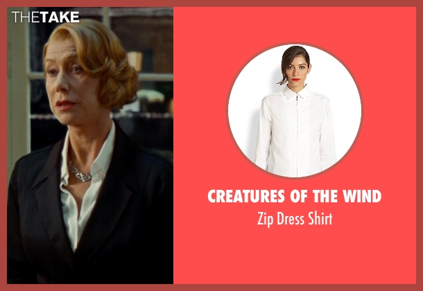 Creatures of the Wind white shirt from The Hundred-Foot Journey seen with Helen Mirren (Madame Mallory)