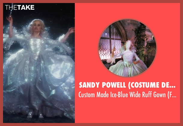 Sandy Powell (Costume Designer) gown from Cinderella seen with Helena Bonham Carter (Fairy Godmother)