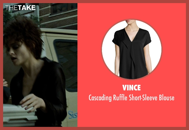 Vince black blouse from Fight Club seen with Helena Bonham Carter (Marla Singer)