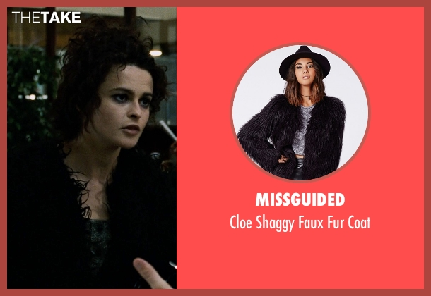 Missguided black coat from Fight Club seen with Helena Bonham Carter (Marla Singer)