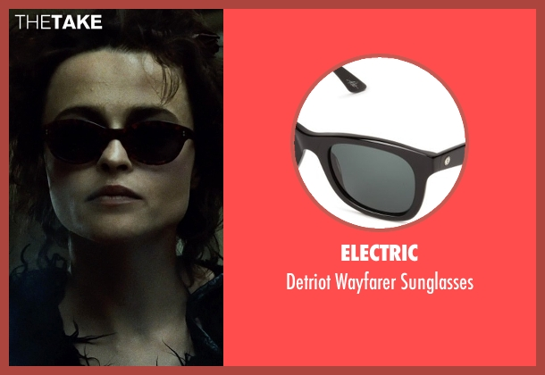 Electric black sunglasses from Fight Club seen with Helena Bonham Carter (Marla Singer)