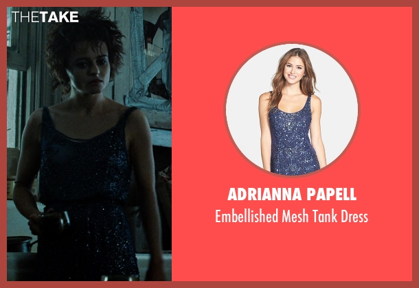 Adrianna Papell blue dress from Fight Club seen with Helena Bonham Carter (Marla Singer)