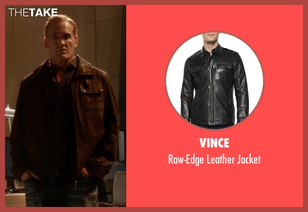 Vince black jacket from The Flash seen with Henry Allen (John Wesley Shipp)