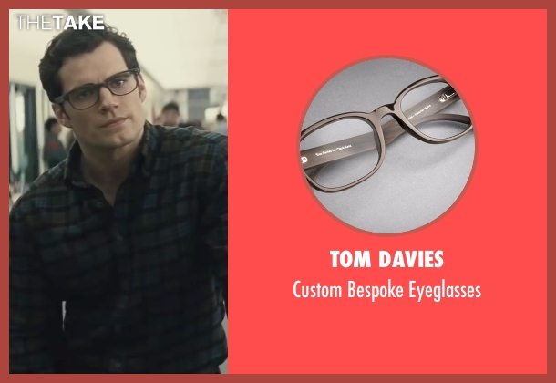 Tom Davies black eyeglasses from Batman v Superman: Dawn of Justice seen with Henry Cavill (Clark Kent / Superman)