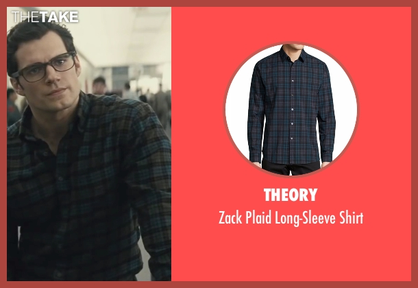 Theory blue shirt from Batman v Superman: Dawn of Justice seen with Henry Cavill (Clark Kent / Superman)