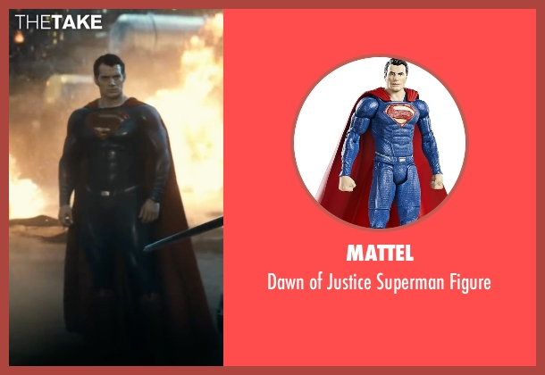 Mattel figure from Batman v Superman: Dawn of Justice seen with Henry Cavill (Clark Kent / Superman)