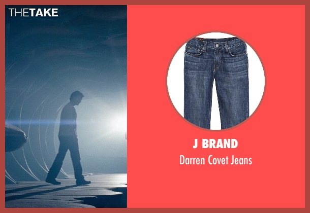 J Brand blue jeans from Man of Steel seen with Henry Cavill (Clark Kent / Superman)