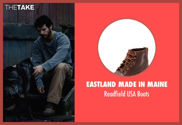 Eastland Made In Maine brown boots from Man of Steel seen with Henry Cavill (Clark Kent / Superman)