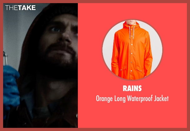 Rains orange jacket from Man of Steel seen with Henry Cavill (Clark Kent / Superman)