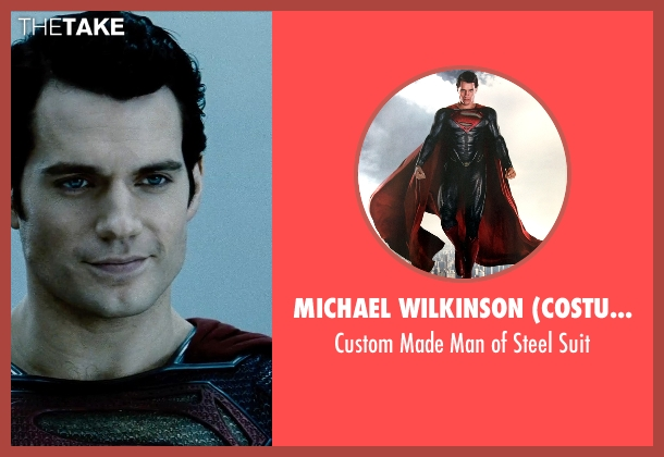 Michael Wilkinson (Costume Designer) suit from Man of Steel seen with Henry Cavill (Clark Kent / Superman)