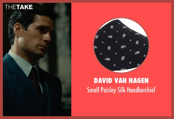 David Van Hagen black handkerchief from The Man from U.N.C.L.E. seen with Henry Cavill (Napoleon Solo)