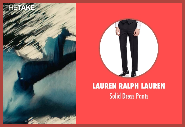 Lauren Ralph Lauren black pants from The Man from U.N.C.L.E. seen with Henry Cavill (Napoleon Solo)