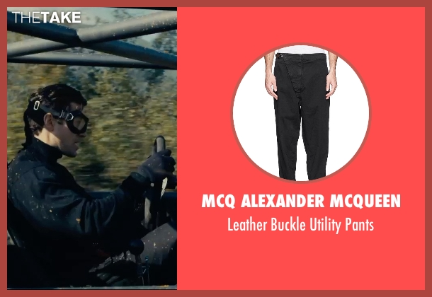 MCQ Alexander McQueen black pants from The Man from U.N.C.L.E. seen with Henry Cavill (Napoleon Solo)