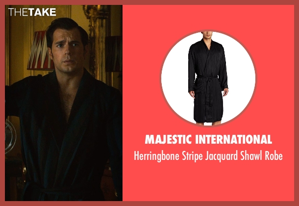 Majestic International black robe from The Man from U.N.C.L.E. seen with Henry Cavill (Napoleon Solo)