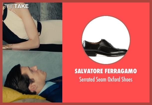 Salvatore Ferragamo black shoes from The Man from U.N.C.L.E. seen with Henry Cavill (Napoleon Solo)