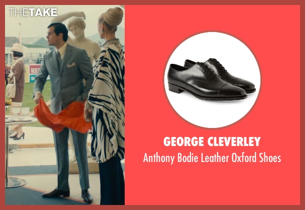 George Cleverley black shoes from The Man from U.N.C.L.E. seen with Henry Cavill (Napoleon Solo)