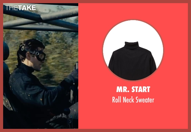 Mr. Start black sweater from The Man from U.N.C.L.E. seen with Henry Cavill (Napoleon Solo)