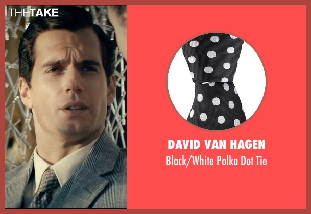 David Van Hagen black tie from The Man from U.N.C.L.E. seen with Henry Cavill (Napoleon Solo)