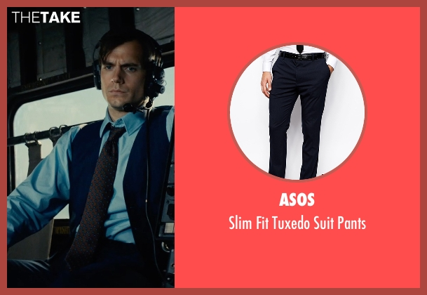 Asos blue pants from The Man from U.N.C.L.E. seen with Henry Cavill (Napoleon Solo)
