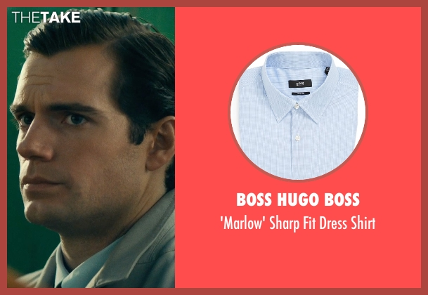 Boss Hugo Boss blue shirt from The Man from U.N.C.L.E. seen with Henry Cavill (Napoleon Solo)