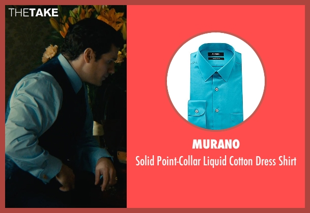 Murano blue shirt from The Man from U.N.C.L.E. seen with Henry Cavill (Napoleon Solo)