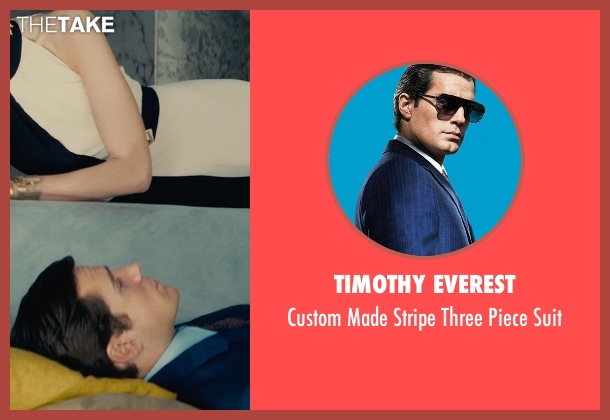Timothy Everest blue suit from The Man from U.N.C.L.E. seen with Henry Cavill (Napoleon Solo)
