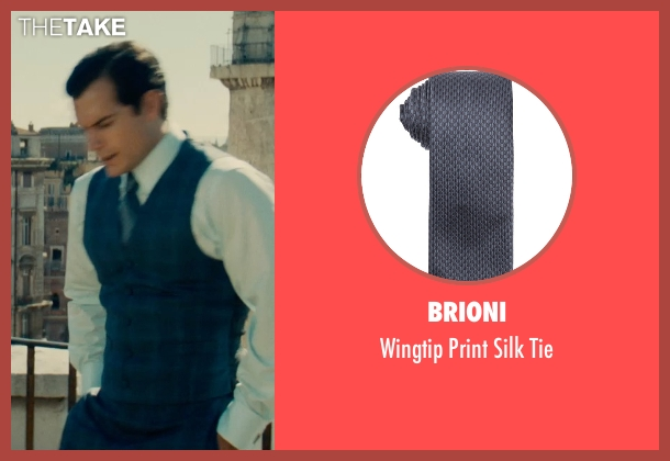 Brioni blue tie from The Man from U.N.C.L.E. seen with Henry Cavill (Napoleon Solo)
