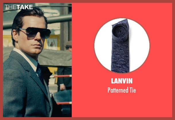 Lanvin blue tie from The Man from U.N.C.L.E. seen with Henry Cavill (Napoleon Solo)