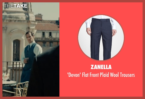 Zanella blue trousers from The Man from U.N.C.L.E. seen with Henry Cavill (Napoleon Solo)