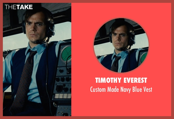 Timothy Everest blue vest from The Man from U.N.C.L.E. seen with Henry Cavill (Napoleon Solo)