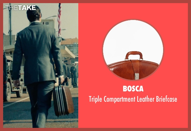 Bosca brown briefcase from The Man from U.N.C.L.E. seen with Henry Cavill (Napoleon Solo)