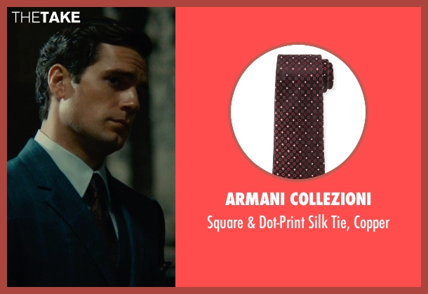 Armani Collezioni brown copper from The Man from U.N.C.L.E. seen with Henry Cavill (Napoleon Solo)
