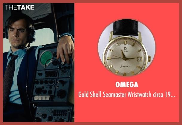 Omega gold 1960s from The Man from U.N.C.L.E. seen with Henry Cavill (Napoleon Solo)
