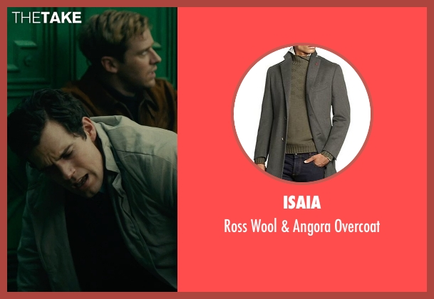 Isaia gray overcoat from The Man from U.N.C.L.E. seen with Henry Cavill (Napoleon Solo)