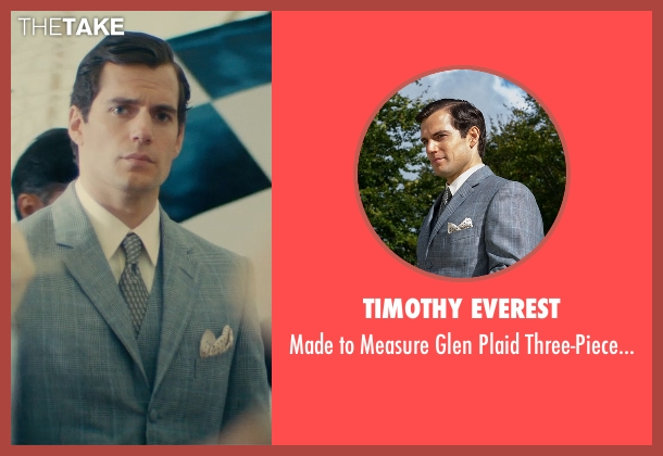 Timothy Everest gray suit from The Man from U.N.C.L.E. seen with Henry Cavill (Napoleon Solo)