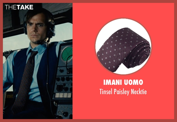 Imani Uomo purple necktie from The Man from U.N.C.L.E. seen with Henry Cavill (Napoleon Solo)