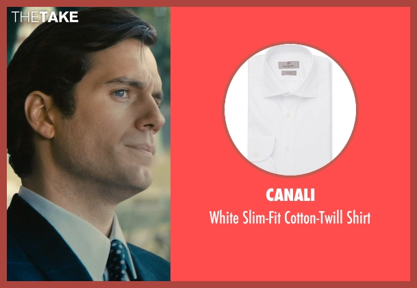 Canali white shirt from The Man from U.N.C.L.E. seen with Henry Cavill (Napoleon Solo)