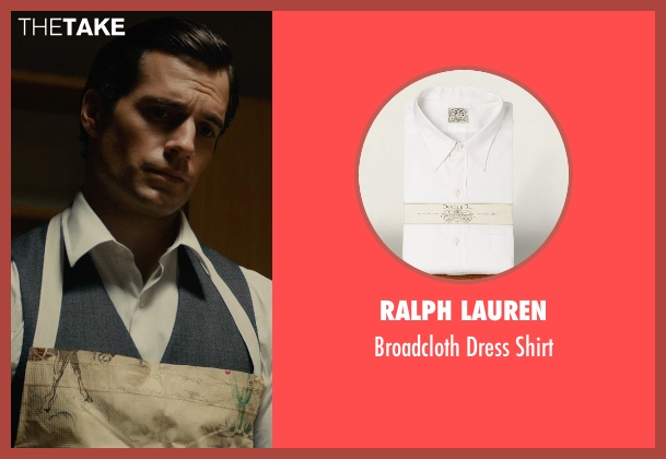 Ralph Lauren white shirt from The Man from U.N.C.L.E. seen with Henry Cavill (Napoleon Solo)