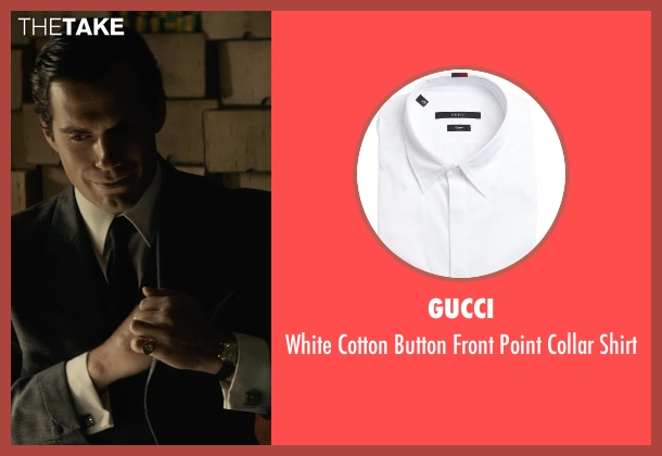 Gucci white shirt from The Man from U.N.C.L.E. seen with Henry Cavill (Napoleon Solo)