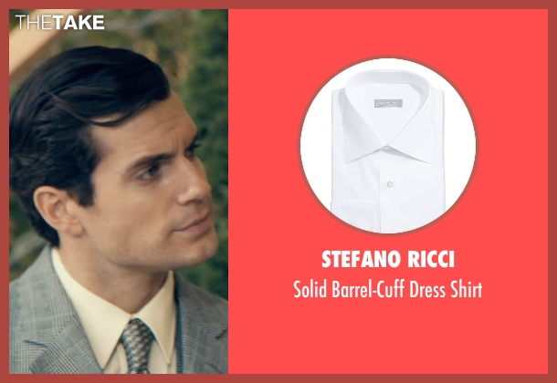 Stefano Ricci white shirt from The Man from U.N.C.L.E. seen with Henry Cavill (Napoleon Solo)