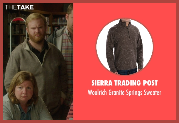 Sierra Trading Post brown sweater from The D Train seen with Henry Zebrowski (Craig)