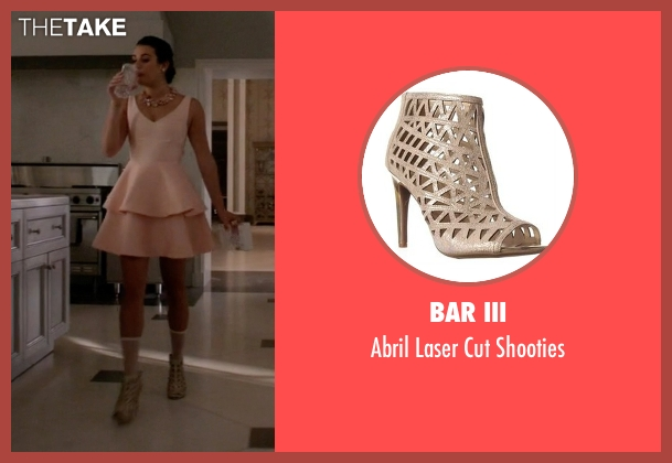 Bar III beige shooties from Scream Queens seen with Hester Ulrich (Lea Michele)