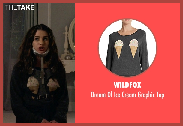 Wildfox black top from Scream Queens seen with Hester (Lea Michele)