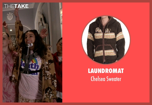 Laundromat brown sweater from Scream Queens seen with Hester (Lea Michele)