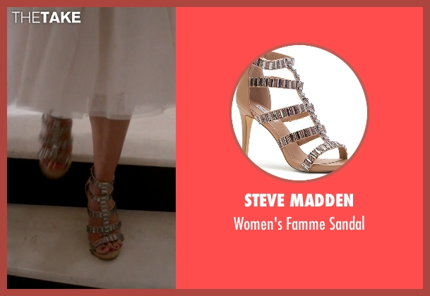 Steve Madden gray sandal from Scream Queens seen with Hester (Lea Michele)