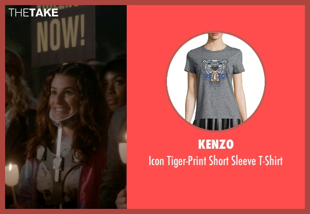 Kenzo gray t-shirt from Scream Queens seen with Hester (Lea Michele)